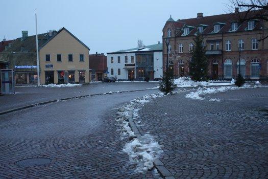 Stortorget i Simrishamn julafton 2012 kl. 15:05|Foto: Stefan Persson