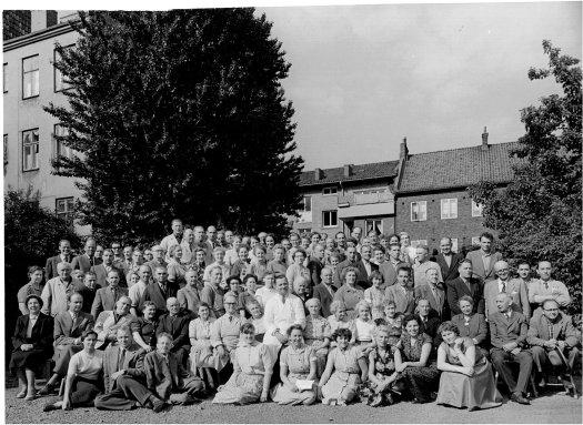 Personal från Malmö Skofabrik på Industrigatan|Foto: Arkivbild