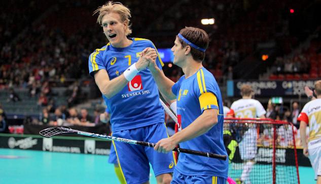 Kim Nilsson jublar efter ett mål mot Tyskland.| : Calle Ström