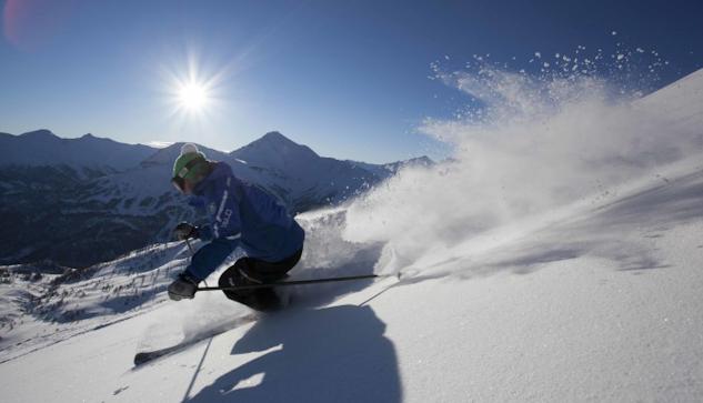 Gott om snö i Alperna.