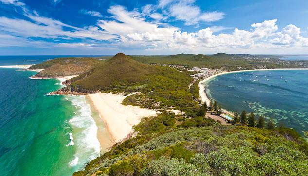 Port Stephens, New South Wales, Australien. Cirka 20 mil norr om Sydney med bil.