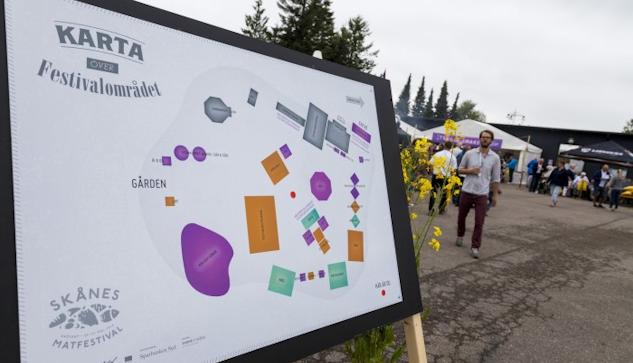 Skånes matfestival hålls i Österlenska Brösarp för andra året i rad.