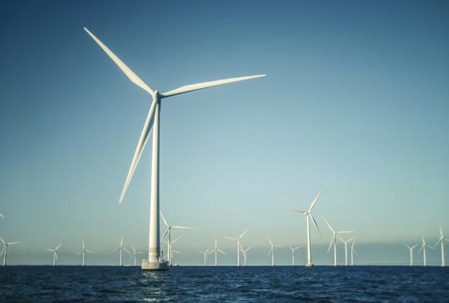 Del av befintlig vindkraftspark till havs.   ©  : Ingvar Lagenfelt