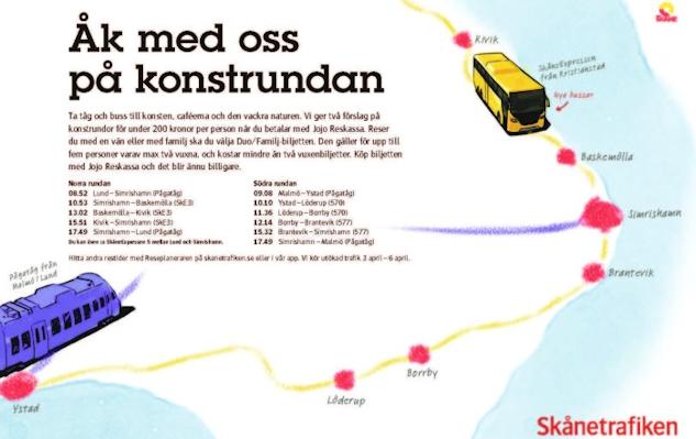 Skånetrafikens förslag på konstrunda finns här.|©  : Skånetrafiken