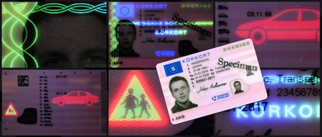 Transportstyrelsens nya körkort.